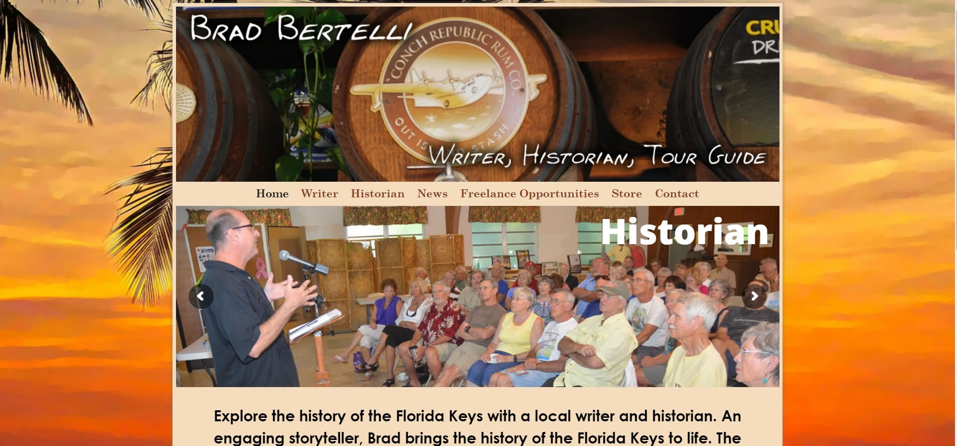 Brad Bertelli Florida Keys Writer Historian Tour Guide